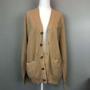 J.CREW MERCANTILE Tan Button Up Cardigan